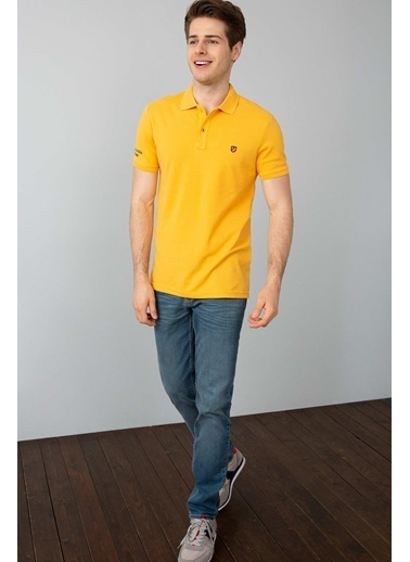 U.S.Polo Assn. Slim Fit Polo Yaka Tişört Sarı